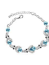 braccialetto di cristallo austriaco (più colori)