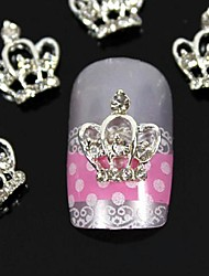 10pcs  3D DIY Rhinestones  Crown For Finger Tips  Alloy Nail Art Decoration