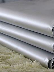(Due pannelli) classico grigio pvc solido rivestimento tenda