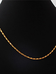 U7 18K Chunky Gold Platinum Plated Cuban Chain Choker Necklace Pendant Adjustable 2MM 22Inches 55CM