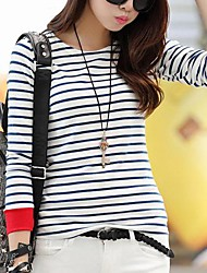 Women's Casual Stripe Long Sleeve T Shirt