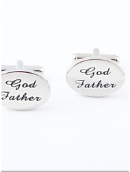"Groom/Groomsman ""God Father"" Brass Cufflinks"