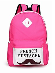 ragazze delle donne baffi a manubrio sacchetto di scuola dello zaino dolce per i libri ipad
