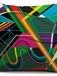 geométrica esboço algodão / linho capa colorida almofadas decorativas