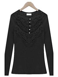 Women's T-Shirts , Cotton Casual LIRONG