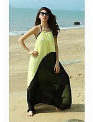 Цвет женского Заблокированные макси платья