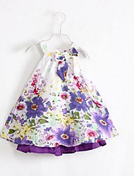 Girl's Dress,Floral Cotton Summer