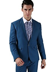 Men Han Edition Cultivate One's Morality Fashion Boutique Suit (Suit + Pant) / One Buckle Royalblue Suit
