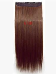 clip di capelli sintetici di vendita caldo di estensione dei capelli per la bella ragazza di 22 pollici di colore 4/30