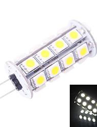 g4 4.5w 220lm 7000k 30x5050 blanc conduit ampoule (dc 12v)