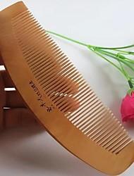 curva 16x5cm natual pente para trás o projeto pêssego pente de madeira