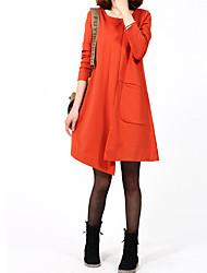 Women's Dresses , Cotton Casual/Work Aiduozi