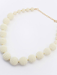 European Style Little Pearl Connect Strands Necklace