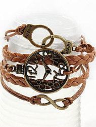 LOVE Women's Handcuffs Watch Weave Bracelet
