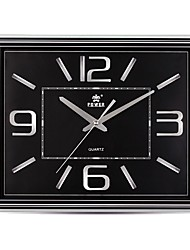 "Power ™ 13 ""h forme de rectangle bref de style super-muet horloge murale"