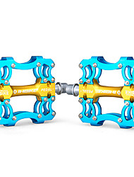 INBIKE Aluminum Alloy Gold+Blue 3 Bearing Bike Bicycle Pedals