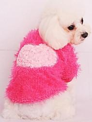 Súeters para Cães Rosa Inverno XS / S / M / L / XL Algodão