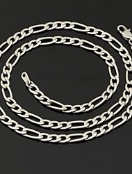U7 Men's 316L Titanium Steel Chunky Figaro Chain Necklace 5MM,22Inches (55CM)