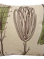 """createforlife® 18 """"Retro-abstrakte Blumen Baumwoll-Leinen-Quadrat dekorative Kissen"""