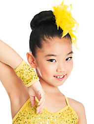 Dance Accessories Headpieces Children's Training Spandex Sequins Purple / Yellow Jazz / Performance Spring, Fall, Winter, Summer