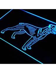 j507 cane boxer negozio di animali regalo nuova luce al neon segno