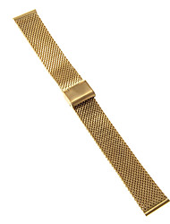 Herren / Damen Uhrenarmbänder Edelstahl #(0.047) #(16.5 x 2 x 0.3)