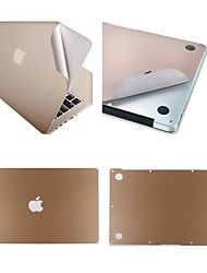 "AB Face Golden Color Scratch-Resistant Metal Full Body Skin Guard for 13.3""/ 15.4"" MacBook Retina"