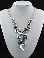Necklace Statement Necklaces Jewelry Party / Daily Fashion Alloy Purple 1pc Gift