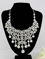 Taoyuan's  Teardrop Diamond Earring Necklace