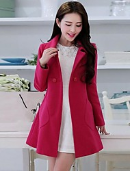 Women's Ruilifang Elegant Korean  Solid Color  Style   Fitted   Coat