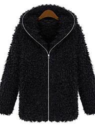 KissTies Fashion European Fur Large Yard Coat