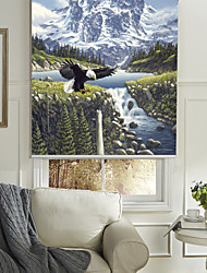 Oil Painting Style Realistic Snow Mountain Roller Shade