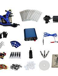 1 Gun Complete No Ink Tattoo Kit with Mini Blue Motor Power