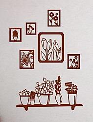 Wall Stickers Wall Decals, Modern Plant photo painting PVC Wall Stickers