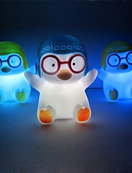 20PCS Penguin Rotocast Color-changing Night Light(Random Color)