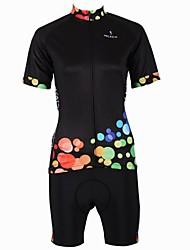 PALADIN® Maillot et Cuissard de Cyclisme Femme Manches courtes Vélo Respirable / Séchage rapide / Pocket RetourMaillot +