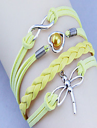 LOVE Women's Vintage Dragonfly LOVE 8 Weave Bracelet