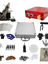 1 Gun Complete No Ink Tattoo Kit with Red Emboss Tatoo Machine