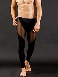 Men's Sexy Ultra-thin Tight Pants Leggings  Men's Underwear
