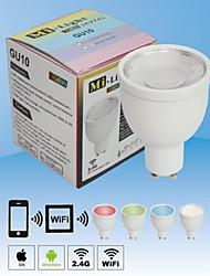 nova 2.4g 4 grupo GU10 4W RGBW lâmpadas LED holofotes regulável cor wi-fi sem fio de trocar a lâmpada