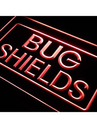 j574 Bug Shields Car Auto Parts Neon Light Sign