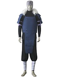 Inspired by Naruto Cosplay Anime Cosplay Costumes Cosplay Suits Patchwork Black / Blue Long Sleeve Top / Pants / Bandage