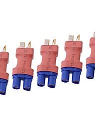sin cables decanos estilo ec3 masculina a t enchufe macho conector / adaptador (5pcs en un paquete)