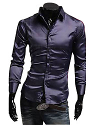 Solid Color Men'S Shirt