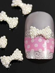 10pcs 3d bricolage cravate perles arc accessoires alliage d'ongles nail art décoration
