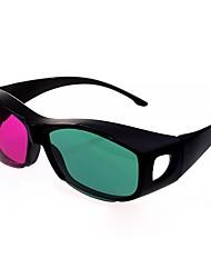 os lados direito e esquerdo gerais dividir tela azul vermelho óculos 3D para computador