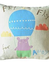 ursinho decoração de ar quente travesseiro com a inserção