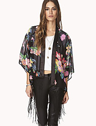 SW цветок печатных кисточка рубашка