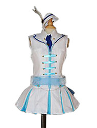 Inspired by Love Live Nozomi Tōjō Anime Cosplay Costumes Cosplay Suits Patchwork White SleevelessTop / Skirt / Hat / Tie / Gloves / Belt