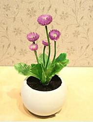 rural décoration de style petite fleur mauve mini-pot